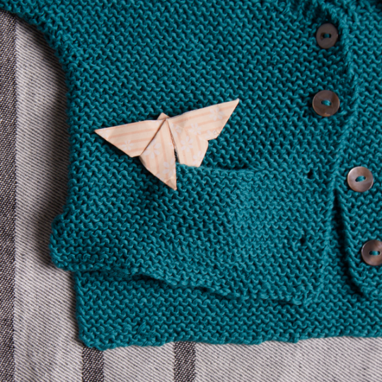 EK3 Garter Stitch Cardigan