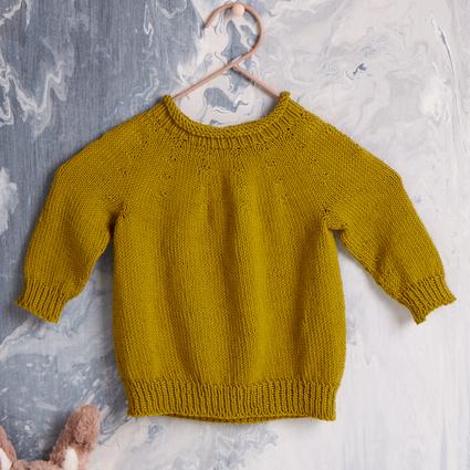EK9 Top Down Baby Sweater