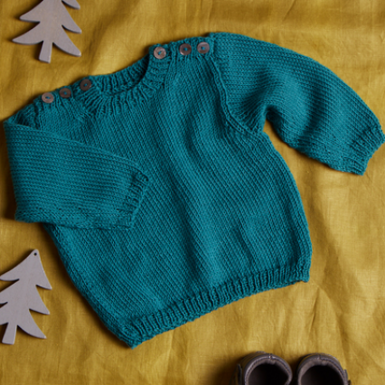 EK8 Baby Sweater with Button Detail