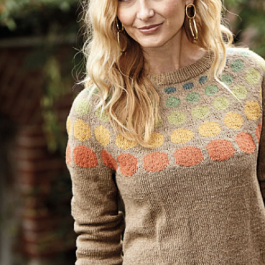 Sweater with Colored Circles