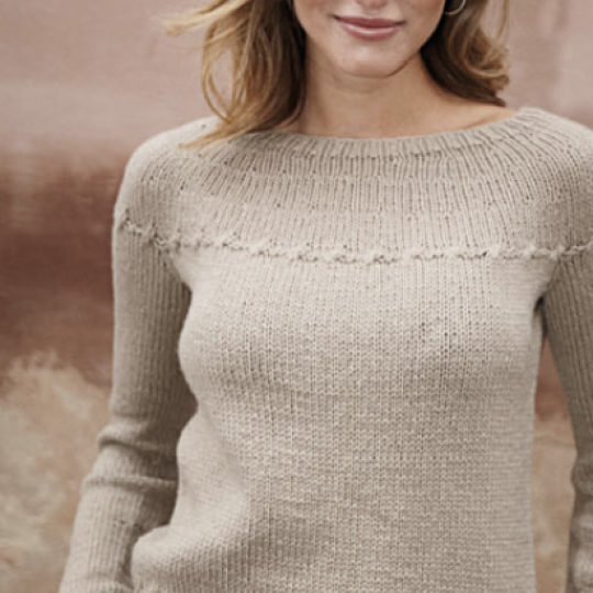 Top Down Sweater