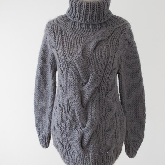 Cable Stitch Maxi Sweater