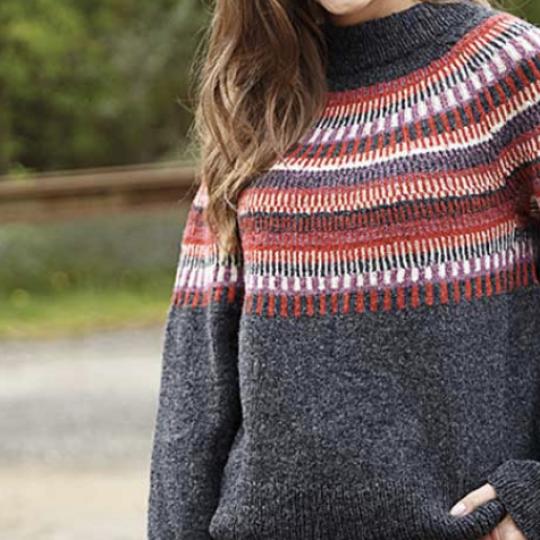Top down Sweater med mønster