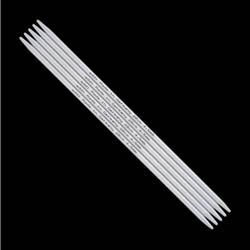 Addi Double Pointed Needles Aluminium 201-7 6mm-23cm