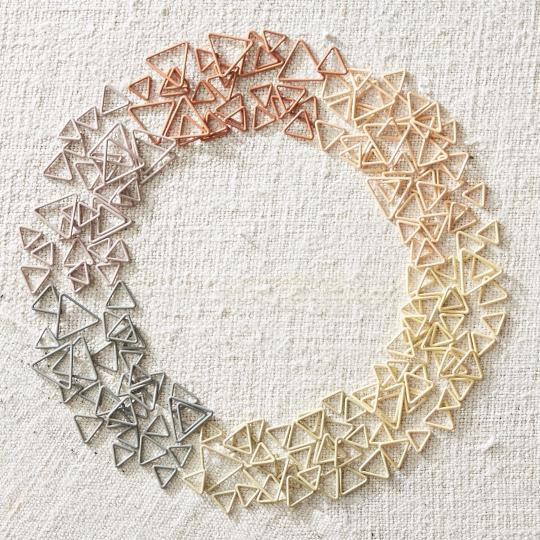 CocoKnits Triangle Stitch Markers Earth Tones