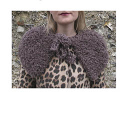 Erika Knight Printed Patterns for Vintage and Fur Wool Fur Capelet Englisch Fur Wool