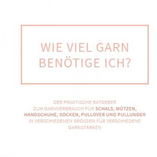 div. Buchverlage Flyer Wieviel Garn benötige ich Deutsch