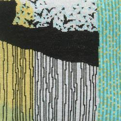 Fru Zippe Pillow abstract birds 74 P25 Vögel oder...