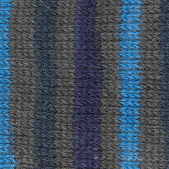 Kremke Soul Wool Edelweiss 4ply 100 Blaugraugestreift