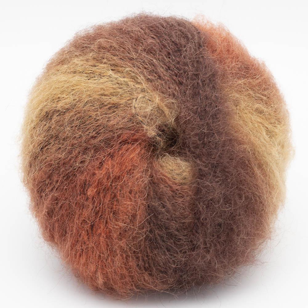 Kremke Soul Wool Baby Silk Fluffy varigated Rostbraun