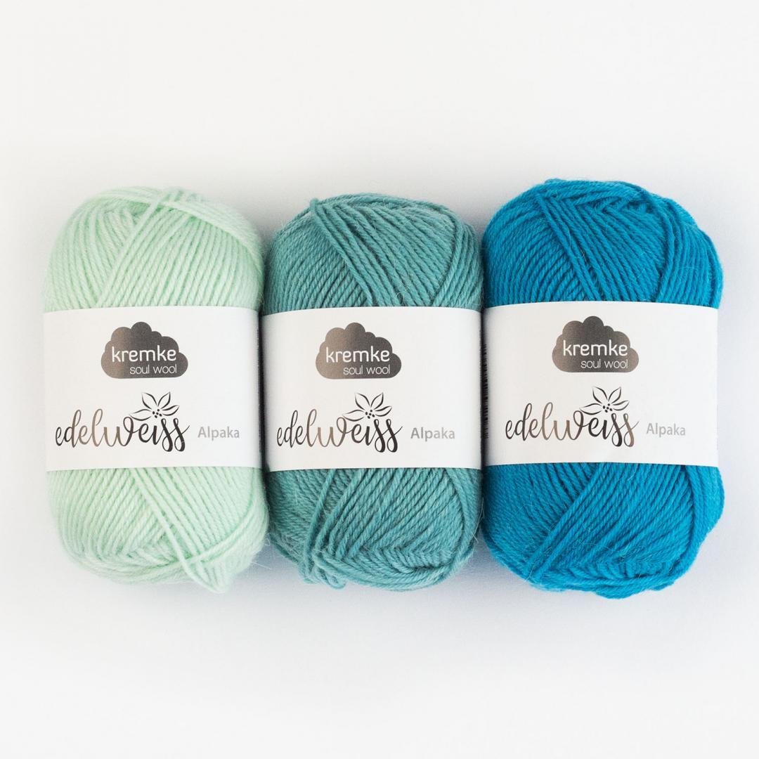Kremke Soul Wool Edelweiss Alpaka 4-fach 25g  Weiß