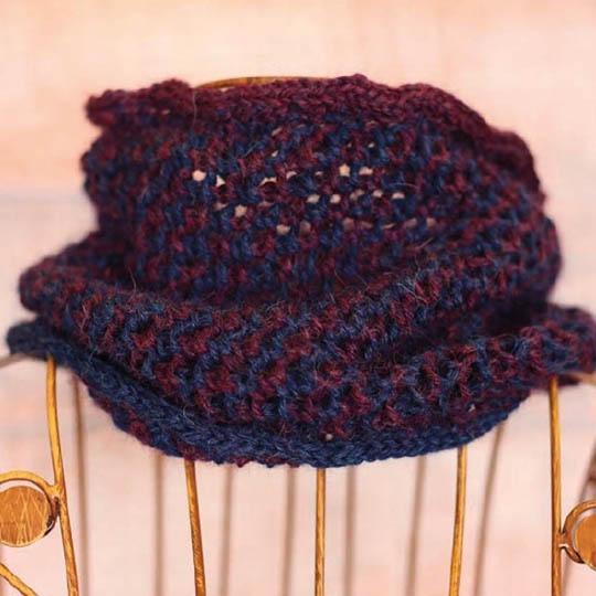 Kremke Soul Wool Strickset Babyalpaka Loop Blueberry