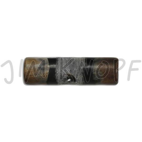 Jim Knopf Horn Toggle 42mm Schwarz Braun Grau
