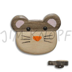 Jim Knopf Wood button mouse or rabbit 32mm Maus