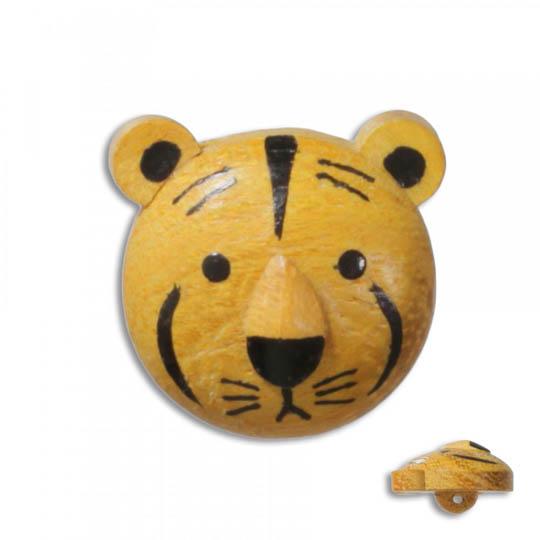 Jim Knopf Wood button tiger 17mm Tiger