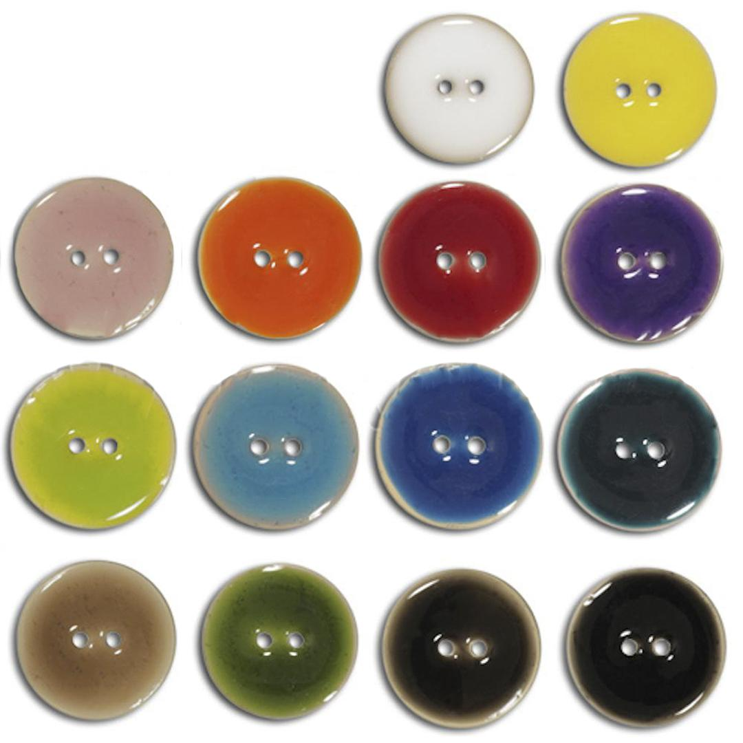 Jim Knopf Coco wood button like ceramics in several sizes