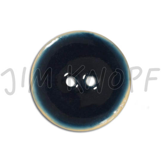 Jim Knopf Coco wood button like ceramics in several sizes Dunkelblau