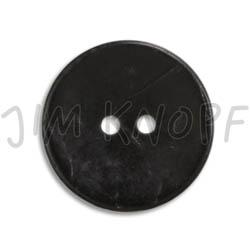Jim Knopf Cocosknopf flach gefärbt 23mm Schwarz