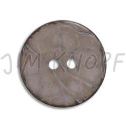 Jim Knopf Cocosknopf flach gefärbt 23mm Grau