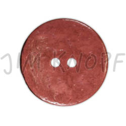 Jim Knopf Cocosknopf flach gefärbt 23mm Bordeaux