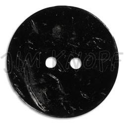 Jim Knopf Coco wood button flat 31mm Schwarz