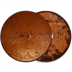 Jim Knopf Coco wood button flat 31mm Orange