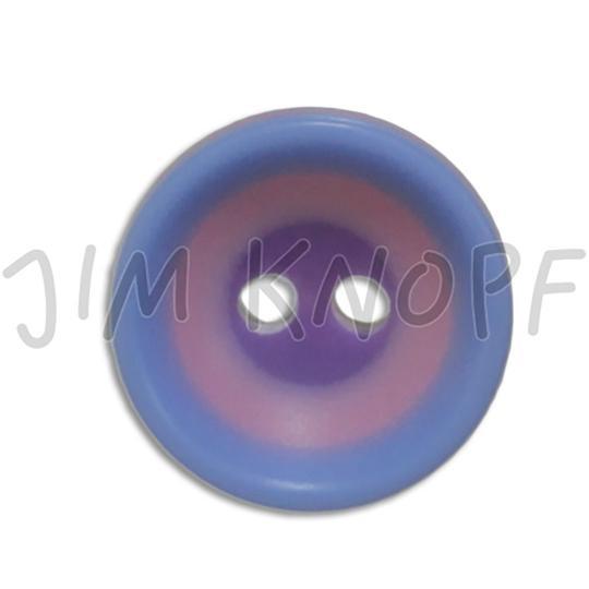Jim Knopf Kunststoffknopf Bunte Kreise 13mm