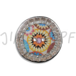 Jim Knopf Colorful button from recycled crown cap 28mm Buntes Phantasiemuster