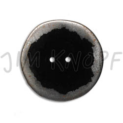 Jim Knopf Button from recycled crown cap used look 30mm Schwarz