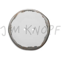 Jim Knopf Button from recycled crown cap used look 30mm Weiss