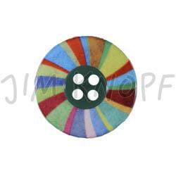 Jim Knopf Plastic button colorful wheel Bunt