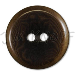 Jim Knopf Colorful buttons made from ivory nut 25mm Braun