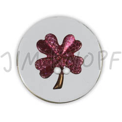 Jim Knopf Resin button flower motiv 18mm Pink auf Transparent
