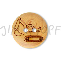 Jim Knopf Wood button mouse or rabbit 32mm Bagger