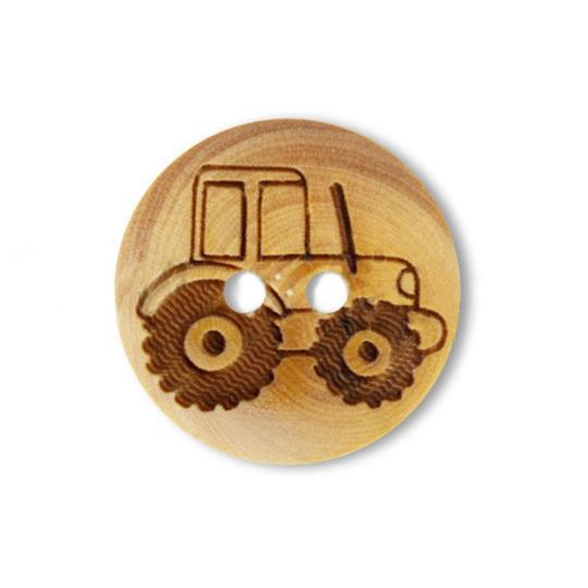 Jim Knopf Holzknopf aus Buchsbaum Fahrzeuge 18mm