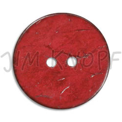 Jim Knopf Coco wood button flat 40mm Rot