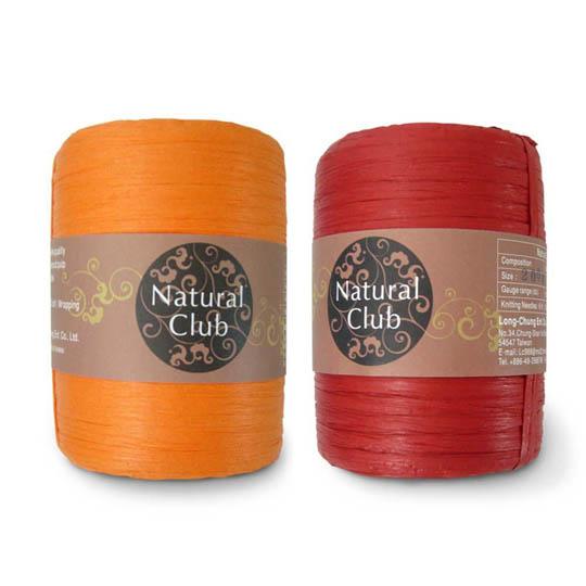 Kremke Naturbast aus Papier/Holzfaser in Rot
