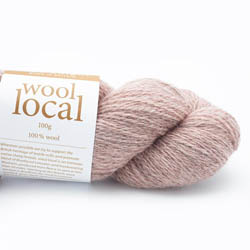 Erika Knight Knit Kits Wool Local Hat with pattern sleeves Rosedale Pale Pink English