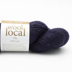 Erika Knight Knit Kits Wool Local Hat with pattern sleeves Bingley Navy English