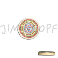 Jim Knopf Resin button with colorful circles several sizes Gelb Blau