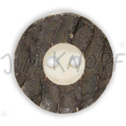 Jim Knopf Horn button with 2 holes 34mm Rand dunkel