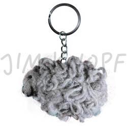 Jim Knopf Felted keyring sheep Grau