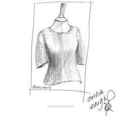 Erika Knight Discounted Printed Patterns for Maxi Wool discontinued designs Simple Short Sleeve Sweater Englisch