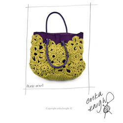 Erika Knight Discounted Printed Patterns for Maxi Wool discontinued designs Crochet Lace Bag Englisch