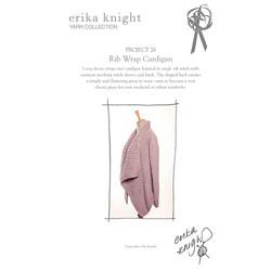 Erika Knight Discounted Printed Patterns for Maxi Wool discontinued designs 26 Rib Wrap Cardigan English