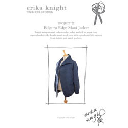 Erika Knight Discounted Printed Patterns for Maxi Wool discontinued designs 27 Edge to Edge Cardi ENG