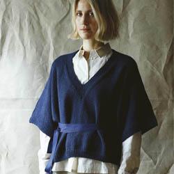 Erika Knight Printed patterns British Blue 100g discontinued designs Dora ENG