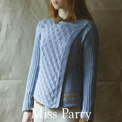 Erika Knight Printed patterns British Blue 100g discontinued designs Miss Parry ENG
