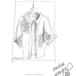 Erika Knight Printed Patterns for Vintage and Fur Wool Edge-to-Edge Stitch Cardigan Englisch Vintage Wool