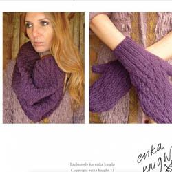 Erika Knight Printed Patterns for Vintage and Fur Wool 16 Loop und Handschuhe Deutsch Vintage Wool